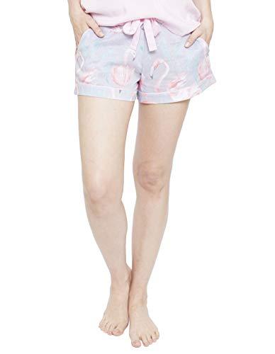 Cyberjammies 4113 Women's Zara Grey Flamingo Print Pyjama Short 48