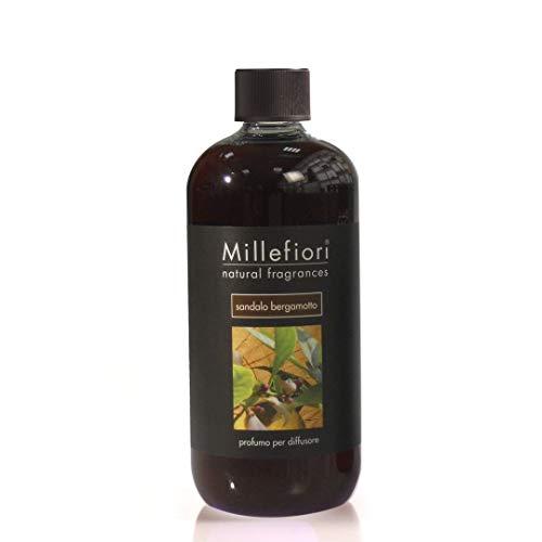Millefiori Natural Ricarica per diffusore di fragranza per ambienti 500ml fragranza Sandalo Bergamotto