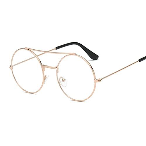 ShZyywrl Gafas De Sol De Moda Unisex Gafas De Sol Redondas Vintage para Mujer, Gafas De Sol para Mujer, Gafas Pequeñas con Lentes Rosas Uv400, Gafas De Moda Go