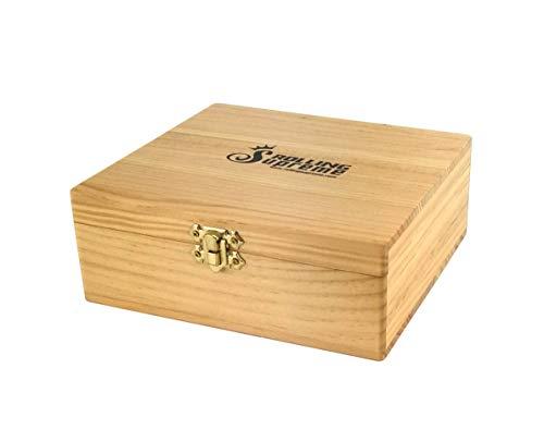 Caja de almacenamiento para fumadores Rolling Supreme XL 2.0 de madera, 18,5 x 17 x 7 cm