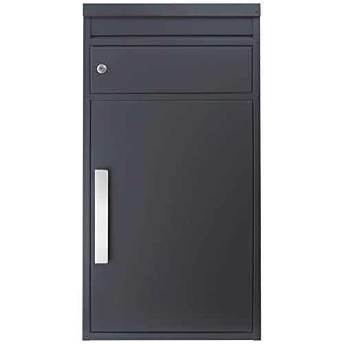 Paketbriefkasten anthrazit-grau Ral 7016 SafePost 65M großer Standbriefkasten Paketbox Paketkasten Scanprodesign