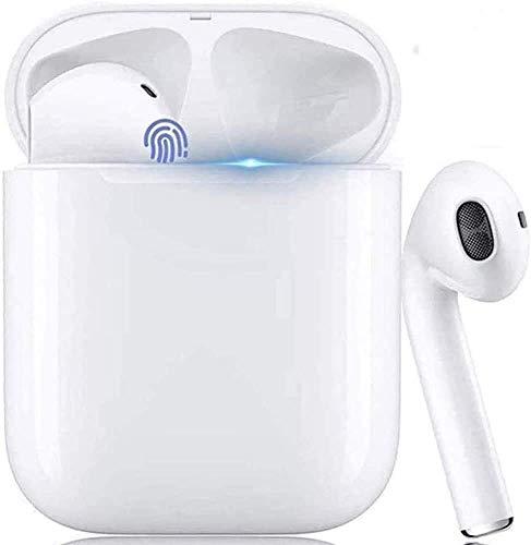 Auriculares Bluetooth 5.0,Micrófono Incorporado y Estuche Cargador,Sonido 3D Estéreo Alta Definición Reducción Ruidos,Compatible con Airpods/Android/iPhone/Samsung/Xiao Mi