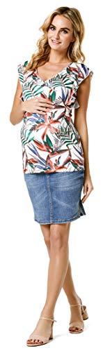 Noppies Damen Skirt Denim OTB mid OVA Rock, Blau (Aged Blue P144), 38 (Herstellergröße: M)