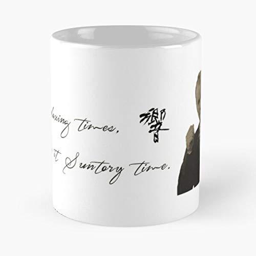 For Relaxing Times, Lost in Translation – camisetas, tazas, Gift Cards – La mejor taza soporta la mano 11 oz 15 oz de cerámica de mármol blanco