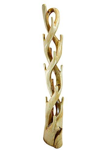 Kinaree Teak Holz Garderobe Massivholz Garderobenständer Baum