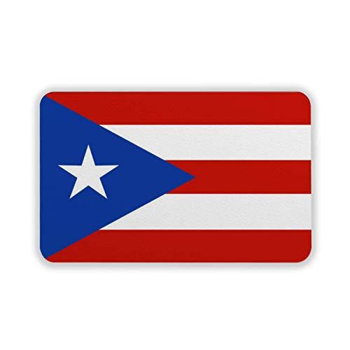 Badematte Nationalflagge Puerto Rico Badewannenmatte mit Saugnäpfen, rutschfest, maschinenwaschbar, Duschmatte für Badewanne, Badezimmer, Küche, 60 x 40 cm