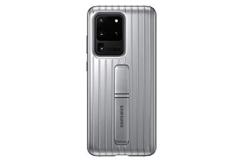 Samsung Protective Standing Smartphone Cover EF-RG988 für Galaxy S20 Ultra Handy-Hülle, Schutz, ausklappbarer Standfuß, griffige Oberfläche, silber