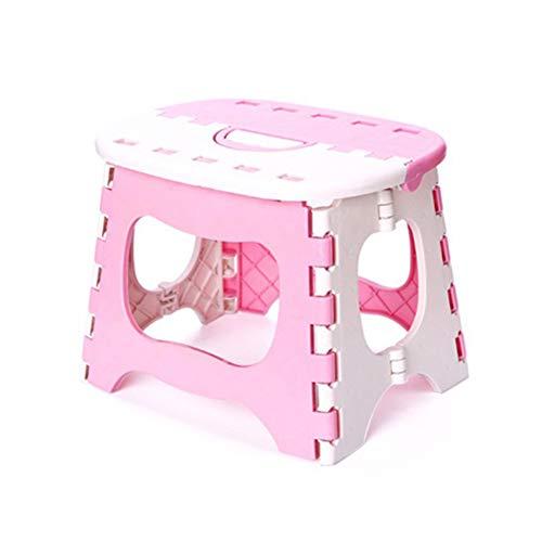 Kids Baby Plastic klapstoel - dikker draagbaar ontwerp - veilig vergrendelingssysteem en non-slip voet grip - ideaal voor outdoor reizen, vissen, schetsen, thuis Essentials 25 * 18.5 * 19.5cm roze