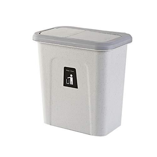 Trash can-YA Kjzhu Basura Reciclaje Bote de Basura de la Cocina, Estrecho Multifuncional Bote de Basura Inicio Dormitorio balcón Papelera Cubo de Basura con Tapa organización Cubos de Basura