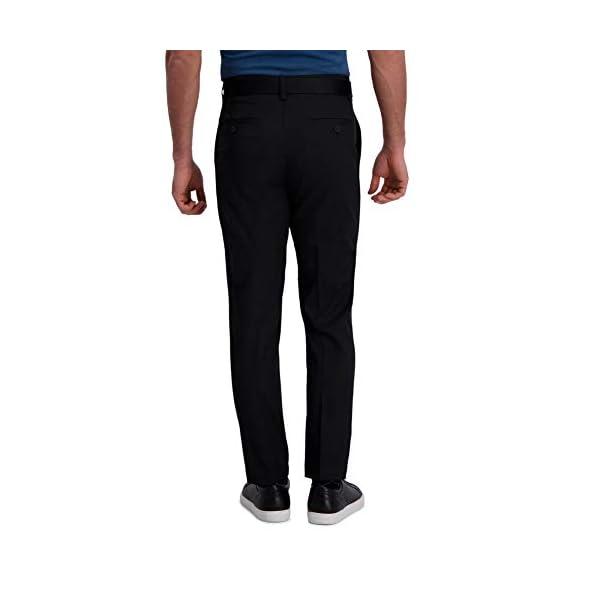 Haggar Men's Cool Right Performance Flex Solid Slim Fit Flat Front Pant