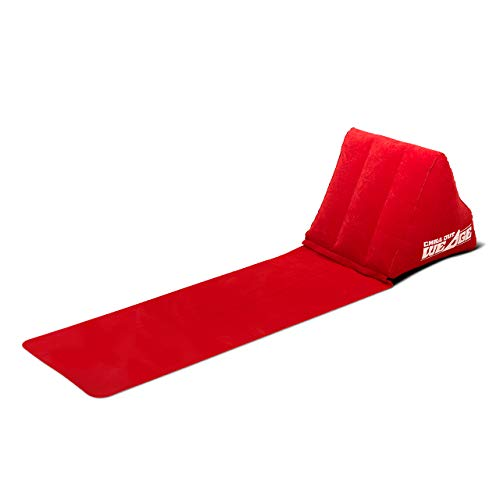 CKB LTD® Chill out Portable Travel Inflatable Lounger with Wedge Shape del Asiento Amortiguador Trasero Soporte Pillow Silla de Lumbar Camping y Festivales (Red)