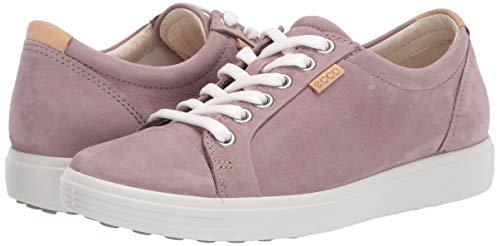 ECCO Women's Soft 7 Sneaker, WOODROSE NUBUCK, 9-9.5