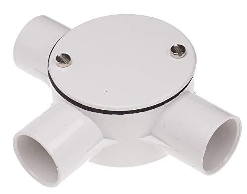RS PRO PVC Kabelrohr Fitting 3-polige T-Box, 25 (Dia.) mm, Weiß