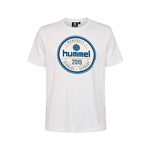 Hummel Camiseta para Hombre Hmlbirk S/S, Hombre, Camiseta, 203460-9001, Blanco, Large