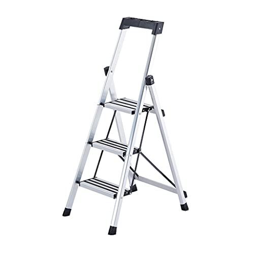 YHYH Escalera De 3 Escalones Taburete De Escalón Plegable con Pasamanos De Portaherramientas Superior Escaleras De Mano Ligeras (Color : 1pcs Ladder A)