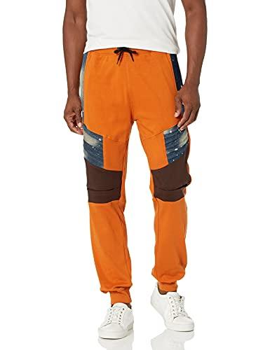 Southpole Men's Fashion Fleece Jogger Pants, Denim Rust, Large