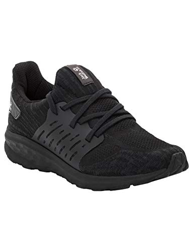 Jack Wolfskin Herren Coogee Knit Low Sneaker, Schwarz (Black 6000), 45 EU