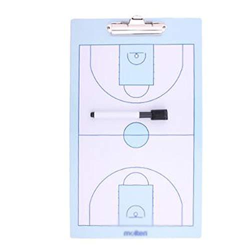 GJJSZ Tablero táctico de Baloncesto,Tablero de demostración de Entrenador de Baloncesto regrabable,Adecuado para Entrenamiento de Baloncesto y orientación didáctica 40 × 20 cm con Marcador de Pizarra