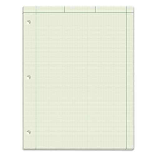 Tops 35510 Engineering Computation Pad, Grid to Edge, Quad Rule, LTR, Green, 100-Sheet/Pad