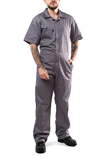 Kolossus Short Sleeve Blended Coverall Men's Gray