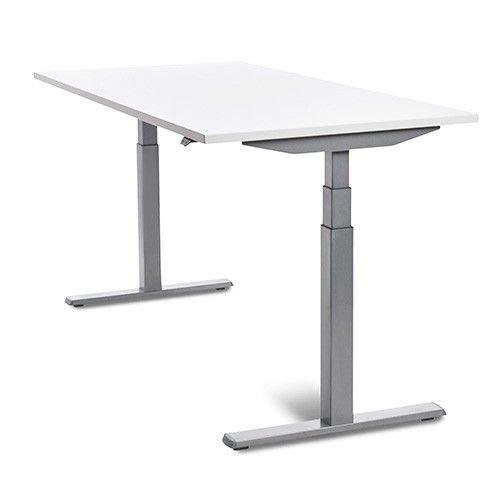 MESA DE ROCADA REGULABLE EN ALTURA ELECTRICAMENTE E-TABLE 180X80CM COLOR BLANCO