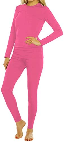 ViCherub Womens Thermal Underwear Set Long Johns Base Layer with Fleece Lined Ultra Soft Top product image
