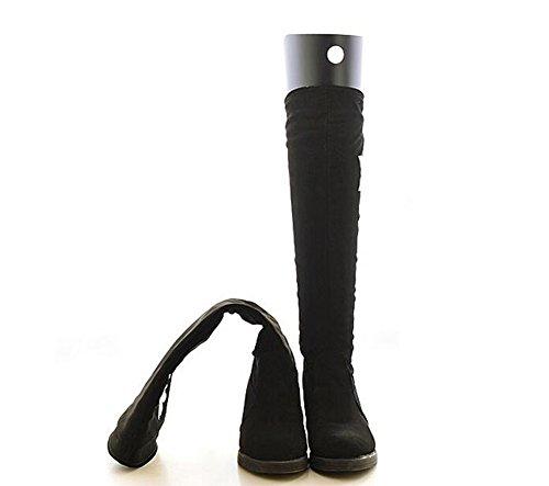 2Pairs Schuhbäume Hohe kurze Stiefel-Former-Baum-Einsätze Knie-hohe Schuhe Schenkel-Stiefel-Halter-Unterstützung für Frauen-Dame die meisten Schuhe Stiefel-Unterstützung Schwarz (45cm)