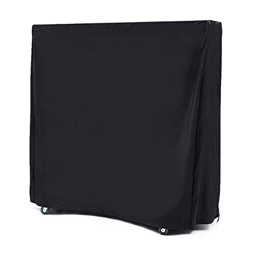 BEILLER Table Tennis Cover, Outdoor & Indoor Heavy Duty Waterproof Ping Pong Table Dust Cover (65   x 28   x 73  ) Black, Premium 420D Oxford Fabric for All Weather Protection