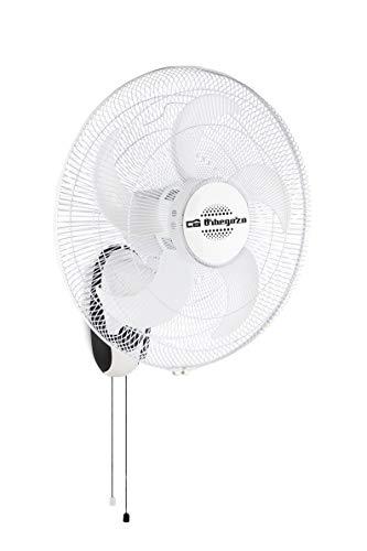 Orbegozo WF 0145 Ventilador de pared, 5 aspas, 3 velocidades de ventilación, cabezal inclinable, oscilante, 80 W