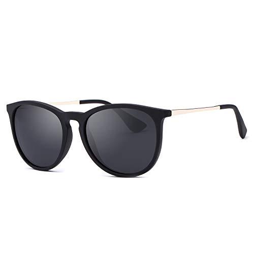 ROTAKUMA サングラス 偏光レンズ メンズ レディース ユニセックス おしゃれ 超軽量 人気 tr90 UV400 運転 ドライブ 釣り用 黒 ブラック sunglass for men women