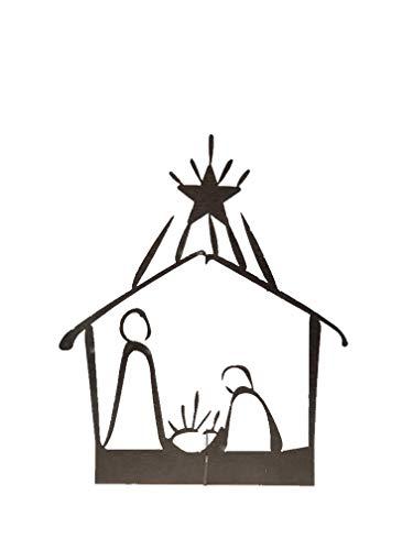 Burnett Metal Art Rustic Stainless Steel Metal Nativity Scene (Small Simple)