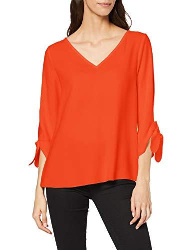 ESPRIT Collection 990EO1F305 Bluse, Damen, Orange 36 EU
