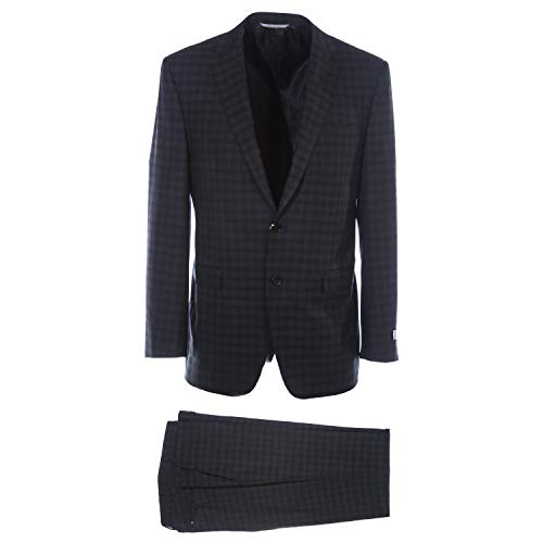 BOSS Business Canali Notch Suit in Black Charcoal Check 42UK