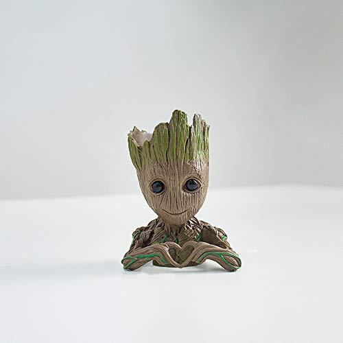 Baby Groot Flowerpot - Soporte creativo para bolígrafos y plantas de aire, para cactus, para interiores (Maceta vacía, estilo 1)