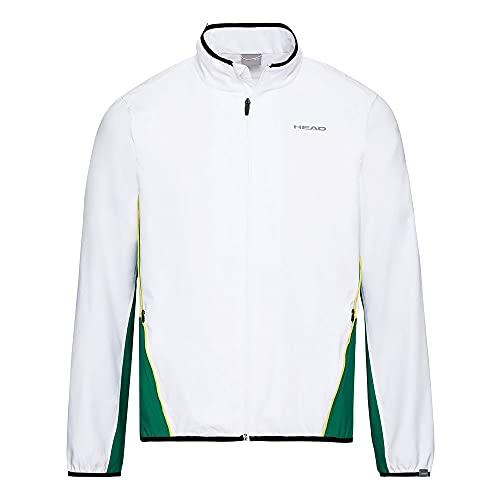 HEAD Club Veste pour homme M Tracksuits Blanc/vert Taille L