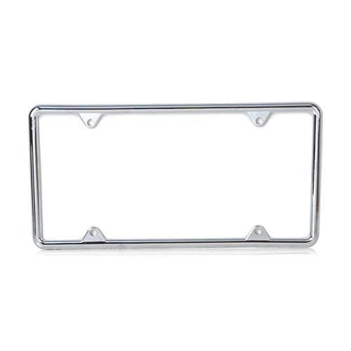 Zinc Alloy Us/Standard License Plate Frame For Audi Q3 Q5 Bmw E90 Vw Golf Kia Rio Toyota Camry Nissan Qashqai