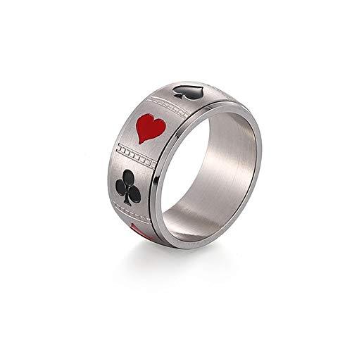 BlackAmazement Anello in acciaio inox 316L, a forma di croce, con cuore, argento, rosso, nero, da uomo e da donna e Acciaio inossidabile, 20, cod. -