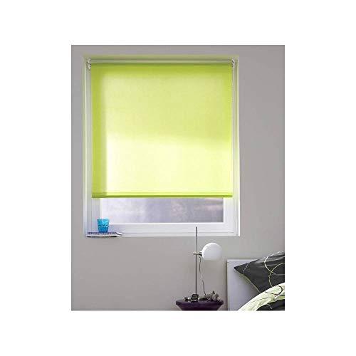 madecostore - Estor Enrollado, Tejido Liso, Color Verde, 94 x 190 cm – con perforación
