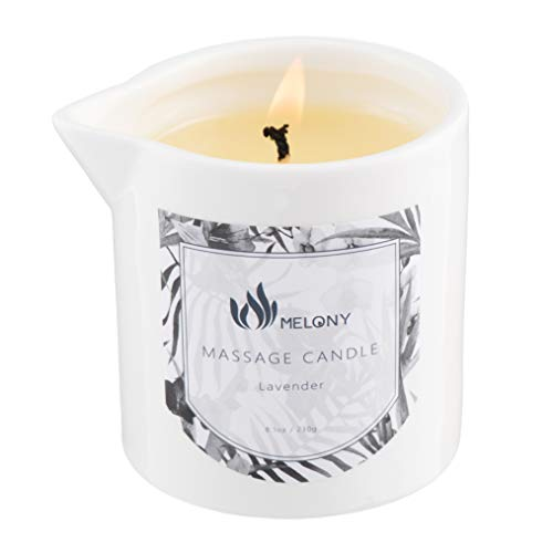 MELONY Lavender Massage Candle, 8.1oz Massage Oil & Lotion Candles for Relaxing Massage, Holiday Gift for Women & Men