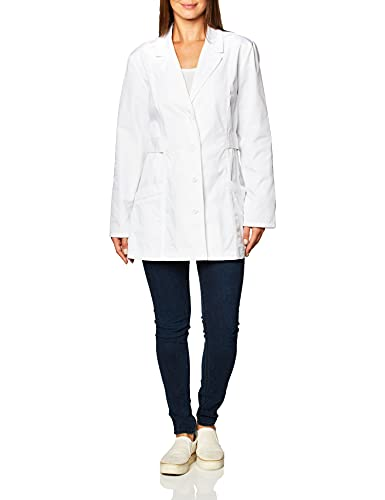 "CHEROKEE Women's Fashion White 30"" Lab Coat, Small"