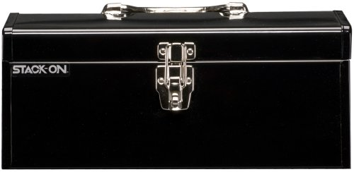 16-Inch Multi-Purpose Steel Tool Box, Black