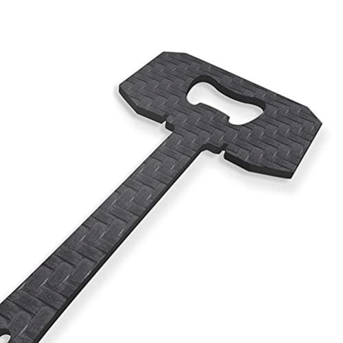 Mjölnir – Thors hammare, kolfiberflasköppnare nyckelring, ölflasköppnare, present till fans & samlare, svart