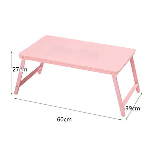 Vouwtafel massief hout, laptopstandaard, buiten vrije tijd computer bureau thuis slaapkamer tuin buiten picknick camping roze