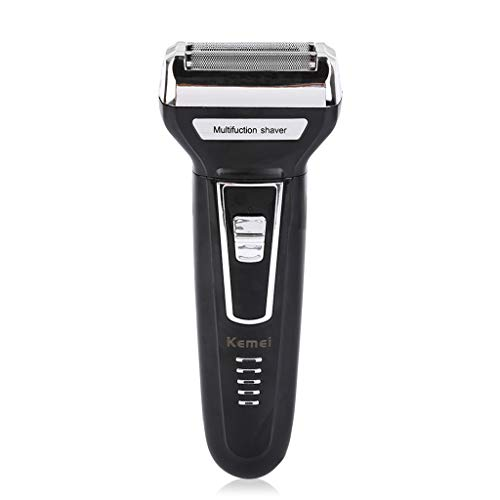 Men's Razor, Reciprocating Double Cutter Head Multi-Function Three-in-one Electric Shaver Nose Hair Trimmer, Men's Best Gift,Black