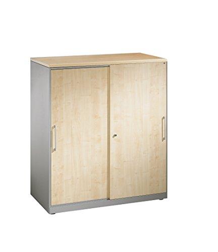 Akten-Sideboard Asisto mit Schiebetüren, 2 Ordnerhöhen, H915xB1000xT435mm