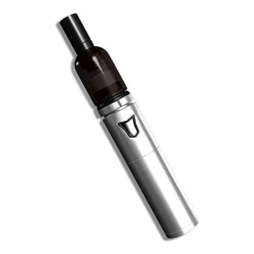 Dry Herb Vape Pen Mr Bald II Wickless Coilless No Exposed Coils Detachable Plus-Size Ceramic Chamber 510 Thread No Liquid No Nicotine No Tobacco(Black)