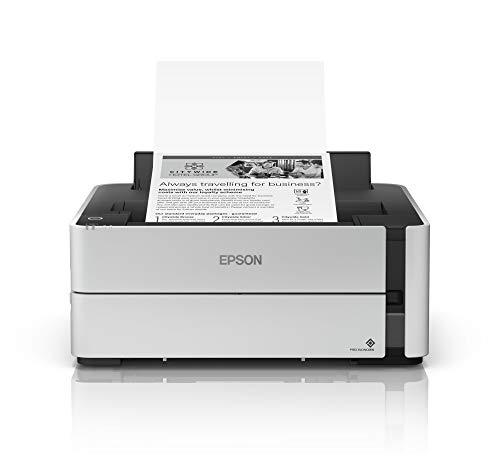 Epson EcoTank ET-M1170 nachfüllbarer Schwarzweißdrucker (Singlefunction, DIN A4, Duplex, Wi-Fi, USB 2.0) großer Tintenbehälter, hohe Reichweite, niedrige Seitenkosten