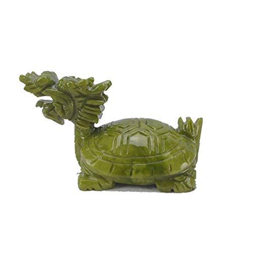 QULONG Dragon Turtle Wealth Protection Estatua Símbolo Longevidad Estatuilla Inauguración de la casa Pisapapeles de felicitación Regalo Decoración del hogar, M