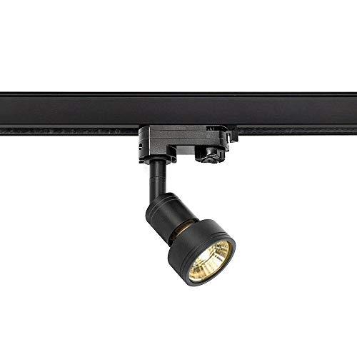 Slv Foco para carril eléctrico de 3 fases, Negro