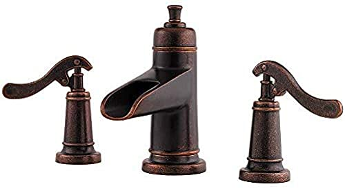 Grifo Lf-049-Yp1U Ashfield Rustic Bronze 2 Manijas Grifo Para Lavabo De Baño Generalizado